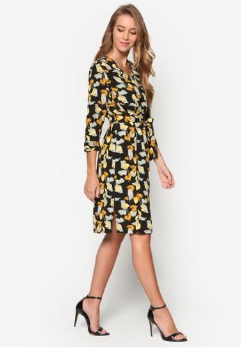 Collection 印花裹飾連身裙、 服飾、 Love Your CurvesZALORACollection印花裹飾連身裙最新折價