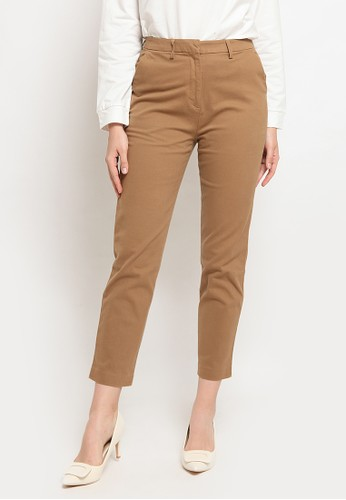 The Executive beige Regular Fit Chinos Pants F54E5AA2ACBC04GS_1