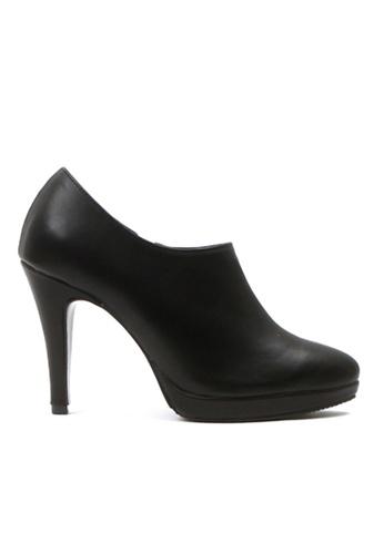 Crystal Korea Fashion black Korean Black High-heeled Bare Boots ECE8ESH6D14B62GS_1