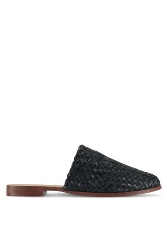 TOPSHOP black Kane Woven Flat Shoes AB666SHC938A47GS_1