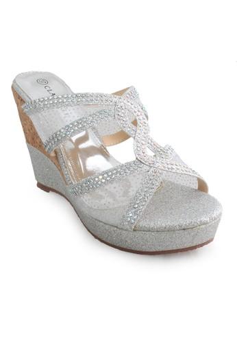 CLARETTE silver Clarette Wedges Kaleigh Silver CL076SH09CMCID_1