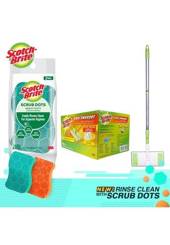 Scotch-Brite 3M Scotch-Brite Easy Sweeper Plus Paperwiper Starter Kit + Dry Wiper Bulk Pack 200 Sheets +  Scrub Dots Heavy duty 2pcs FBCC5ES0CFCEDCGS_1