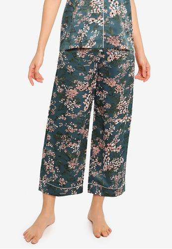 ZALORA BASICS green Lounge Satin Pyjama Pants 8E504AA79F0BA1GS_1