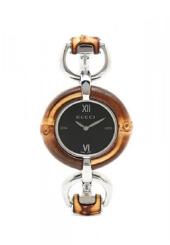 aa3a7df5d80 Gucci silver GUCCI Bamboo Black Dial Ladies Watch FEBF9AC138468FGS 1