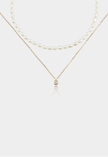 monojewelry LORI PEARL NECKLACE SET AC399AC49C7668GS_1