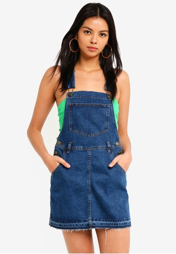 Supre blue The Denim Pinafore Dress A9125AAF6C1B9AGS_1