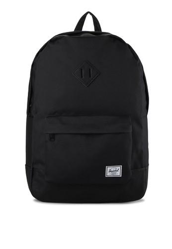 Herschel black Heritage Backpack E06C3AC37795A9GS_1