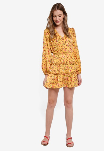 The Fifth Label yellow Sonic Long Sleeve Dress 59EB5AA4A839D7GS_1