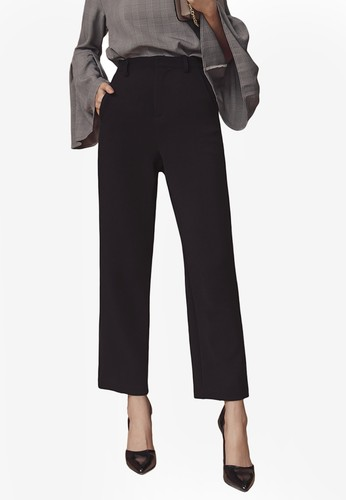 Kodz black Plain Cropped Pants CEE65AADD6C035GS_1