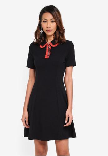 Glamorous black Ribbed Mini Dress E468BAA7D58B14GS_1
