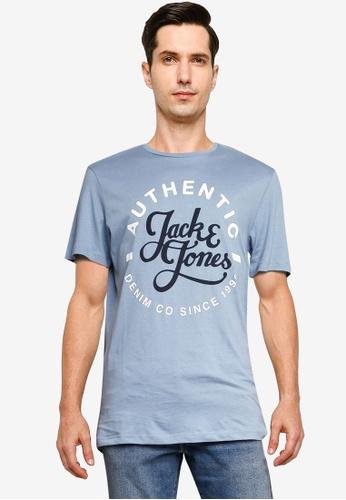 Jack & Jones blue Moon Crew Neck Tee BE76FAAA7D61EAGS_1