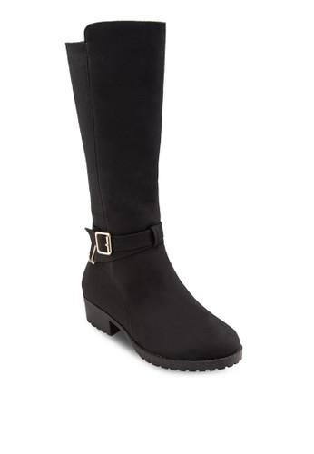 扣環帶中筒靴,esprit 手錶 女鞋, 靴子