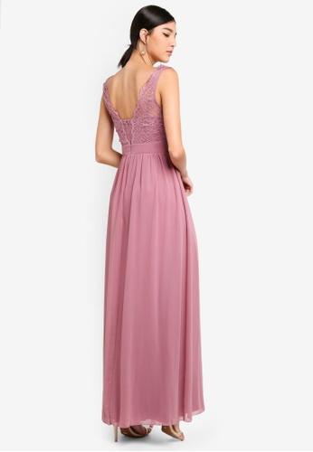 fd9a2e5ba058 Shop Little Mistress Rose Cowl Neck Maxi Dress Online on ZALORA Philippines