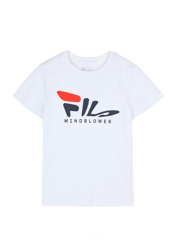 FILA white FILA KIDS FILA Logo Cotton T-shirt 10-15yrs 30697KA37E4D4DGS_1
