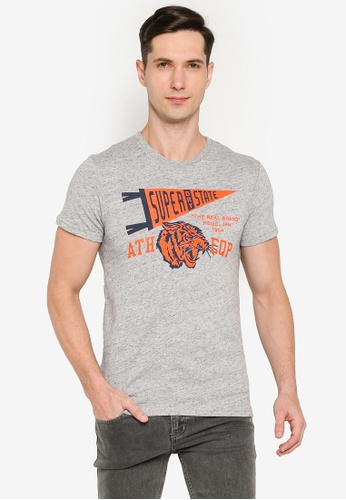 SUPERDRY 灰色 Mascot Varsity T-Shirt - Original & Vintage 36856AA4105F36GS_1