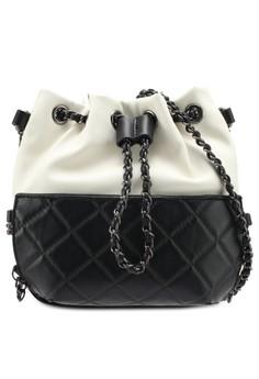 Duo Tone Classic Crossbody Bag