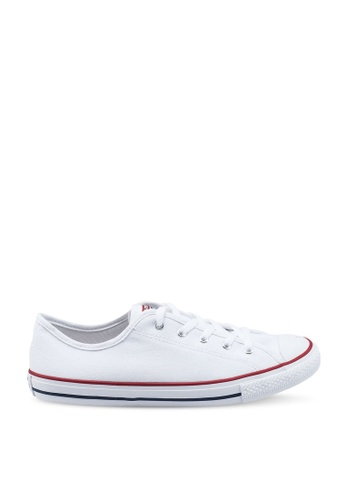 Converse white Chuck Taylor All Star Dainty GS Basic Canvas Ox Sneakers AE913SH96CAD41GS_1