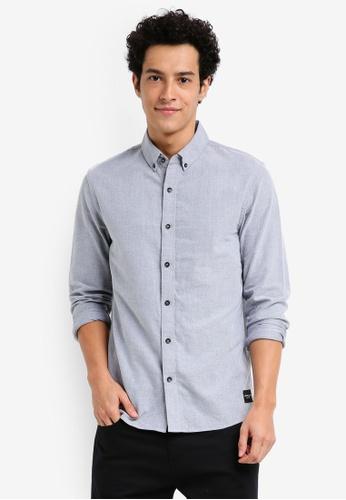Calvin Klein navy Wilbens Regular Fit Long Sleeve Shirt - Calvin Klein Jeans AEFDBAA39E9081GS_1