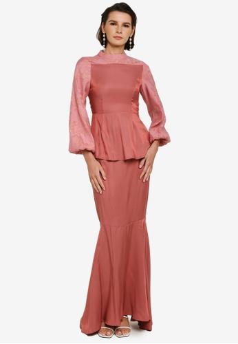 Zalia pink Floral Peplum Kurung BA5F8AA4798F0BGS_1