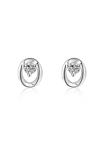 MaBelle silver 18K/750 White Gold Single Diamond Earrings 69511AC650CEADGS_1