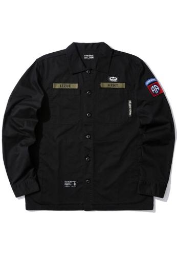 izzue black Military shirt 716E4AA3FE733EGS_1