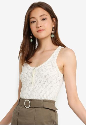 ONLY 白色 無袖針織上衣 2D4AAAA55A781FGS_1