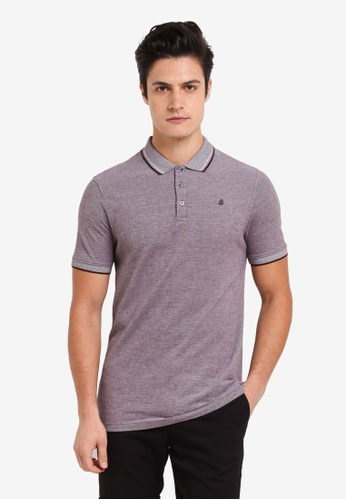 Burton Menswear London purple Raisin Two-Tone Pique Polo Shirt 9DC01AAF2773C5GS_1