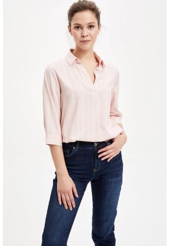 DeFacto pink Woman Long Sleeve Blouse 6415EAA9EE4D44GS_1