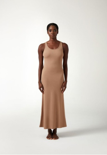 Annibody brown and beige ROLA Dress - Oatmeal A161FAA35D1C3AGS_1