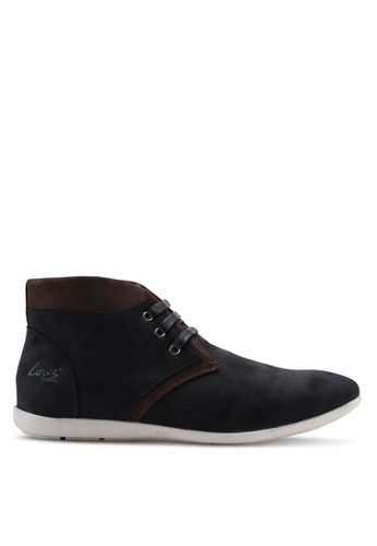 Louis Cuppers black Faux Leather Chukka Boots E4178SHAB1F2BDGS_1