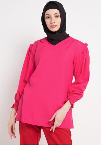OMARA pink Patra Blouse 1668CAAF4EC371GS_1