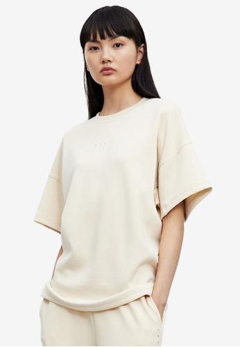 URBAN REVIVO pink Plain T-Shirt A6448AA2A96AC3GS_1
