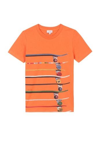 PAUL SMITH JUNIOR orange PAUL SMITH JUNIOR BOYS T-SHIRT 90427KA4B0D4E9GS_1