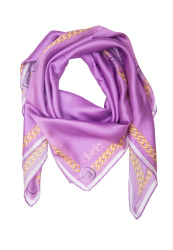 LUX@ME purple Luxatme Soie Purple Chain Scarf A42E2AA5C75506GS_1