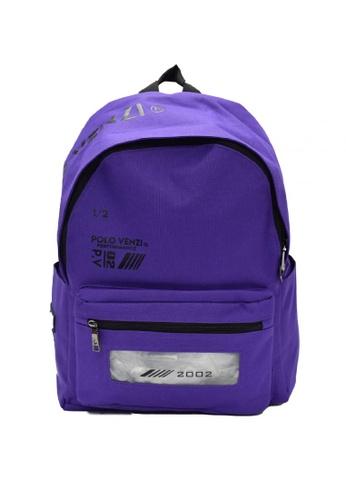 POLOVENZI purple POLOVENZI BACKPACK 240E5ACCF2FFCFGS_1