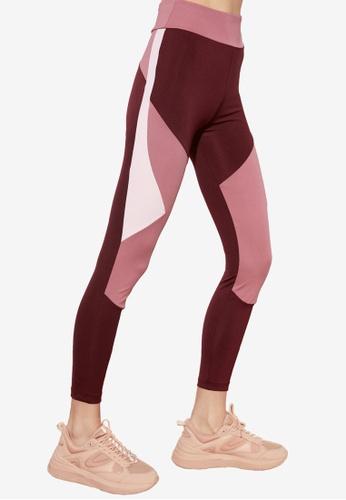 Trendyol red Colorblock Sports Leggings 23B25AA18A65B4GS_1