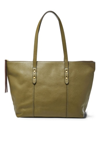 Fossil green Fossil Jenna Olive Totes Bag SHB1727382 248C8ACCC0CD5BGS_1