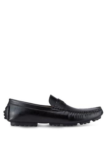 ZALORA black Essential Faux Leather Moccasins 983A4SH8A3CE82GS_1