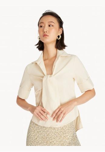 Pomelo multi Inside Out Linen Shirt - Cream 0FD3BAAD9C4CA4GS_1