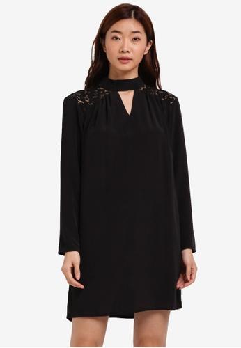 ZALORA black Long Sleeve Lace Yoke Detail Dress E3D19ZZ9BA1948GS_1