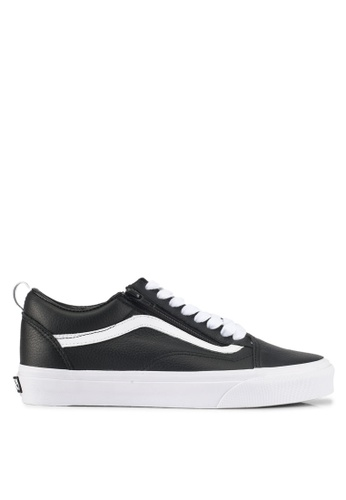VANS black Old School Zip Leather Sneakers VA142SH0SWS8MY_1