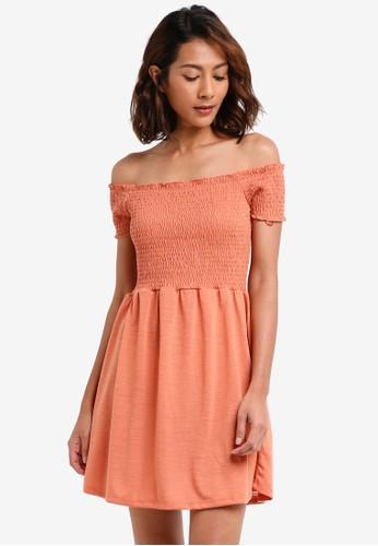 Cotton On orange Lindi Off The Shoulder Dress D4302AA64C1BC0GS_1