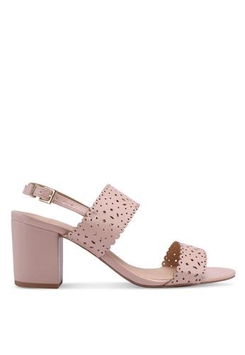 Dorothy Perkins pink Wide Fit 'Sugar' Heeled Sandals D477ESH338C803GS_1