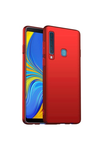 MobileHub red Samsung A9 2018 MobileHub X-Level Rubberized Matte Hard Back Case D910CACCA1D8FEGS_1