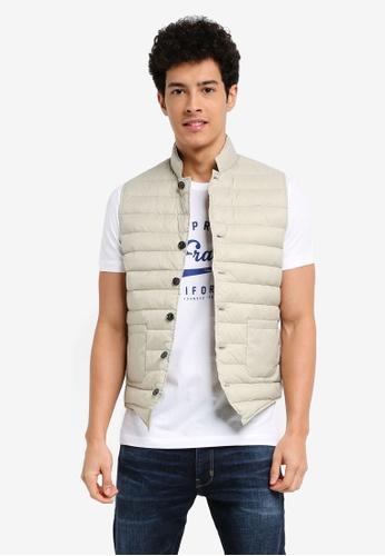 ESPRIT 灰色 時尚鋪棉背心 0FEFCAA00789B5GS_1