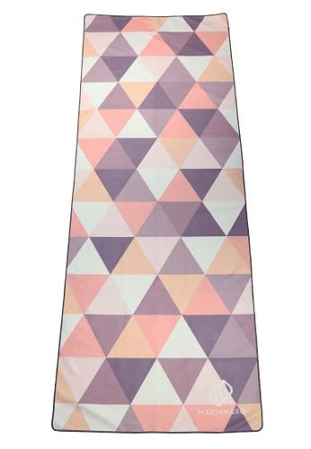 MARSHMARO orange MARSHMARO YOGA TOWEL - SWEET PEACH TRIANGLES B1BE5ACDC1E35AGS_1
