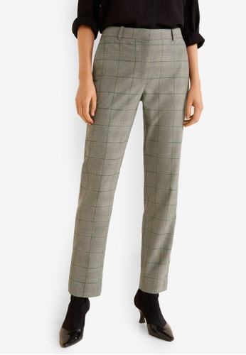 72844e407cf Shop MANGO Straight Checkered Trousers Online on ZALORA Philippines