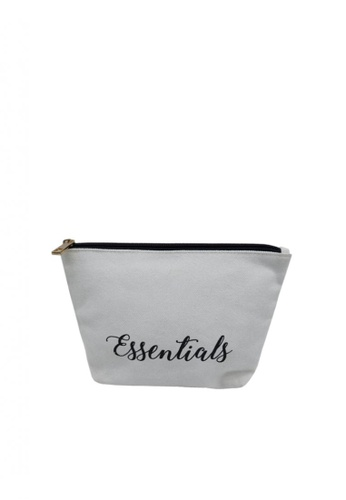 Stylesource beige Essentials Travel Pouch Catch Fabric 89AFBACDCB54F8GS_1