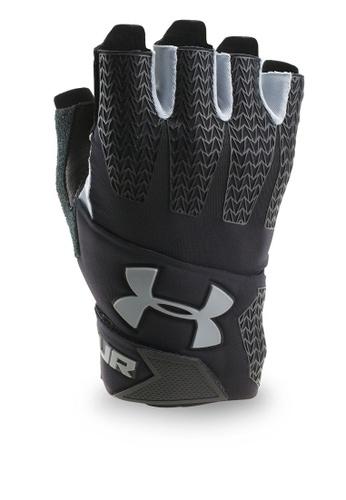 Under Armour black UA Clutchfit Resistor Gloves UN337AC0SU31MY_1