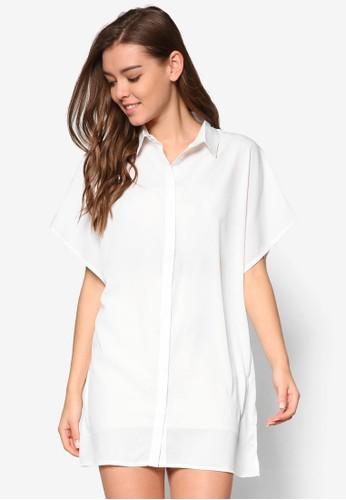 簡約寬袖襯衫式洋裝, esprit china服飾, 洋裝